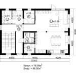 Двухэтажный дом 192/1-5 (1 этаж)