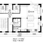 Двухэтажный дом 192/1-6 (1 этаж)