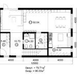 Двухэтажный дом 192/2-1 (1 этаж)