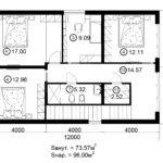 Двухэтажный дом 192/2-1 (2 этаж)