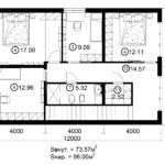 Двухэтажный дом 192/2-2 (2 этаж)