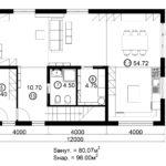 Двухэтажный дом 192/2-3 (1 этаж)