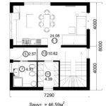 Двухэтажный дом 116/1 (1 этаж)