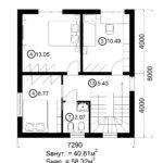 Двухэтажный дом 116/1 (2 этаж)