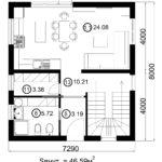 Двухэтажный дом 116/12 (1 этаж)
