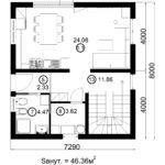 Двухэтажный дом 116/13 (1 этаж)