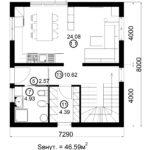 Двухэтажный дом 116/14 (1 этаж)