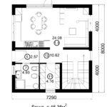 Двухэтажный дом 116/2 (1 этаж)