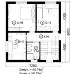 Двухэтажный дом 116/2 (2 этаж)