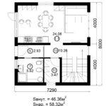 Двухэтажный дом 116/3 (1 этаж)