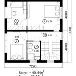 Двухэтажный дом 116/3 (2 этаж)