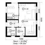 Двухэтажный дом 116/4 (1 этаж)