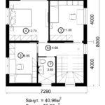 Двухэтажный дом 116/4 (2 этаж)