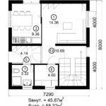 Двухэтажный дом 116/5 (1 этаж)