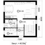 Двухэтажный дом 116/7 (1 этаж)