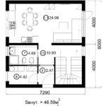 Двухэтажный дом 116/9 (1 этаж)