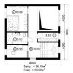Двухэтажный дом 128/1 (2 этаж)