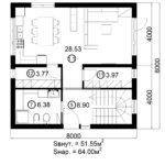 Двухэтажный дом 128/10 (1 этаж)