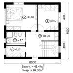 Двухэтажный дом 128/3 (2 этаж)