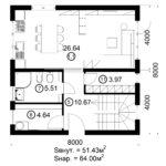 Двухэтажный дом 128/5 (1 этаж)